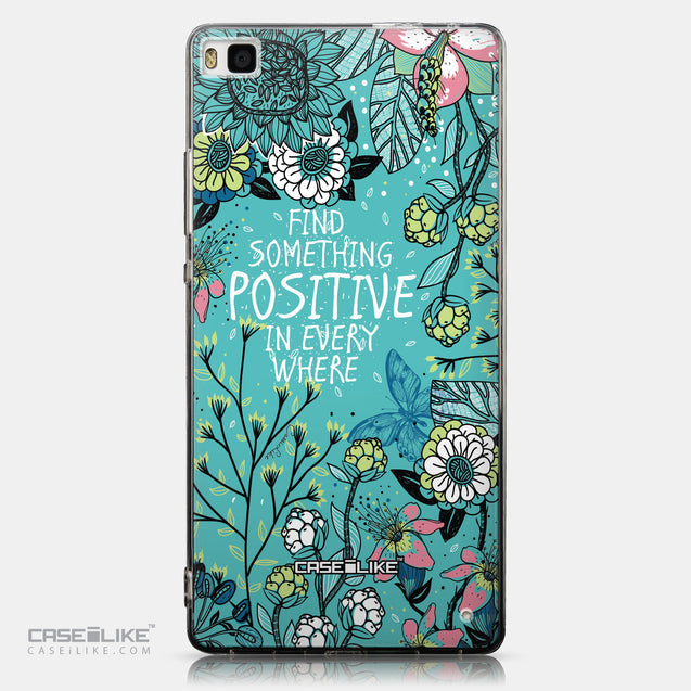 CASEiLIKE Huawei P8 back cover Blooming Flowers Turquoise 2249