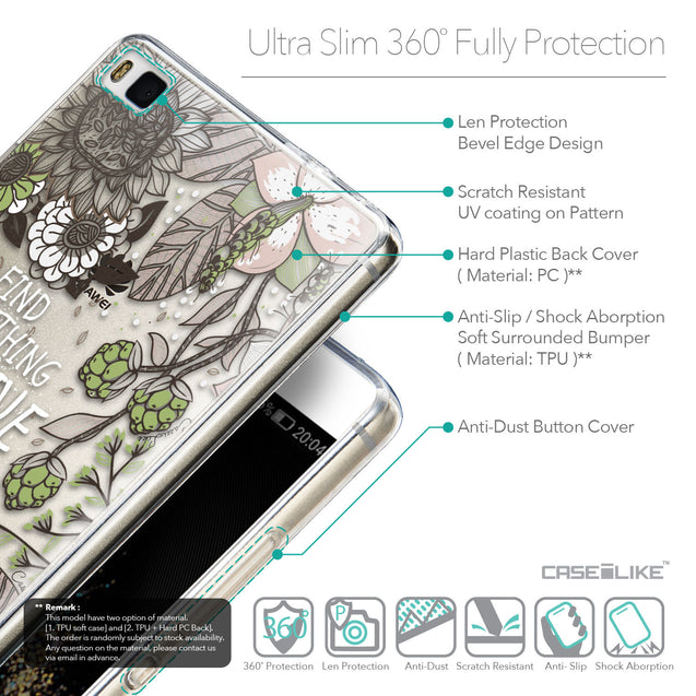 Details in English - CASEiLIKE Huawei P8 back cover Blooming Flowers 2250