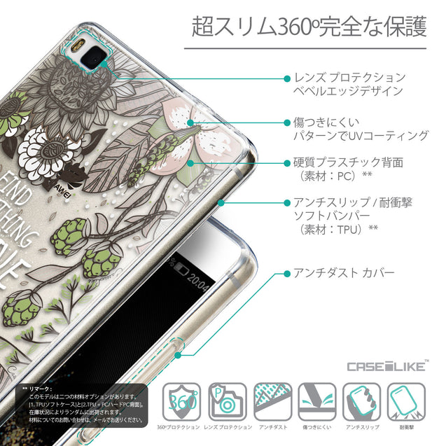 Details in Japanese - CASEiLIKE Huawei P8 back cover Blooming Flowers 2250