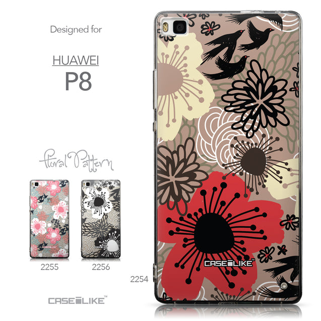 Collection - CASEiLIKE Huawei P8 back cover Japanese Floral 2254