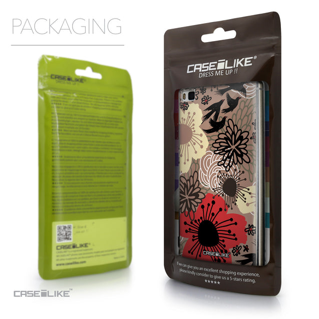 Packaging - CASEiLIKE Huawei P8 back cover Japanese Floral 2254