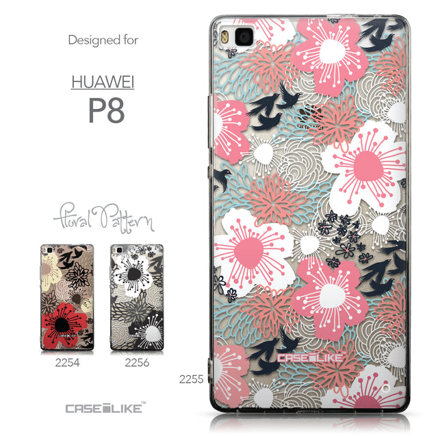Collection - CASEiLIKE Huawei P8 back cover Japanese Floral 2255