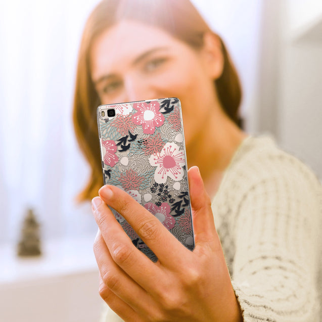 Share - CASEiLIKE Huawei P8 back cover Japanese Floral 2255