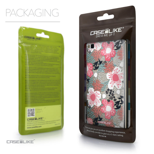 Packaging - CASEiLIKE Huawei P8 back cover Japanese Floral 2255