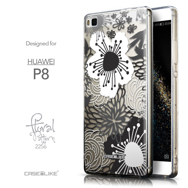 Front & Side View - CASEiLIKE Huawei P8 back cover Japanese Floral 2256