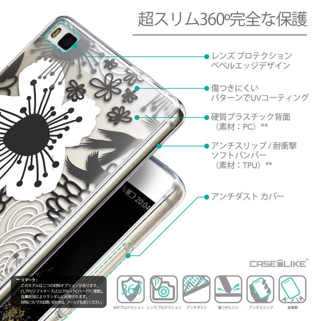 Details in Japanese - CASEiLIKE Huawei P8 back cover Japanese Floral 2256