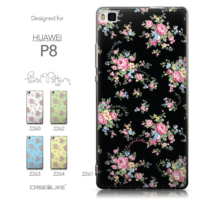 Collection - CASEiLIKE Huawei P8 back cover Floral Rose Classic 2261