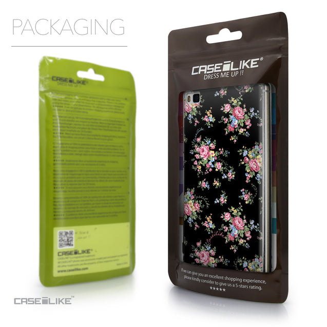 Packaging - CASEiLIKE Huawei P8 back cover Floral Rose Classic 2261