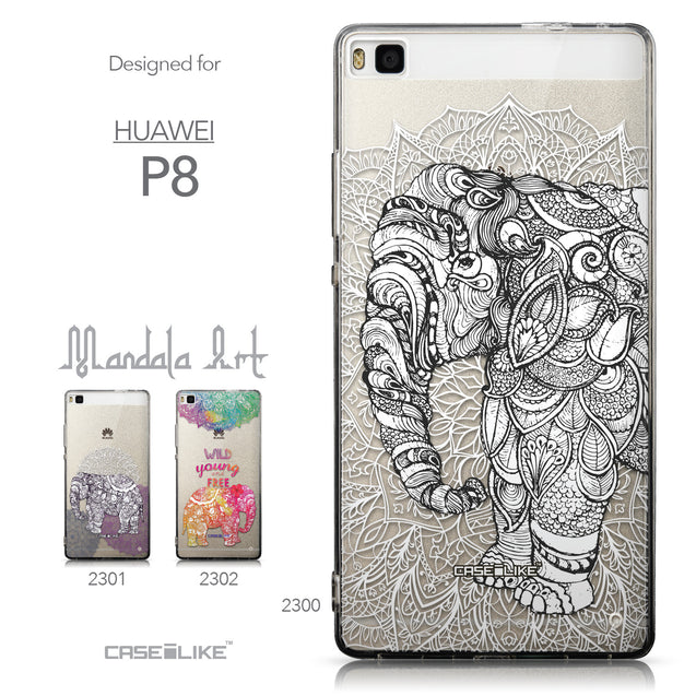 Collection - CASEiLIKE Huawei P8 back cover Mandala Art 2300