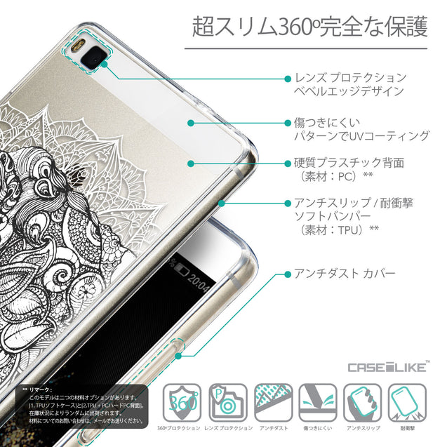 Details in Japanese - CASEiLIKE Huawei P8 back cover Mandala Art 2300