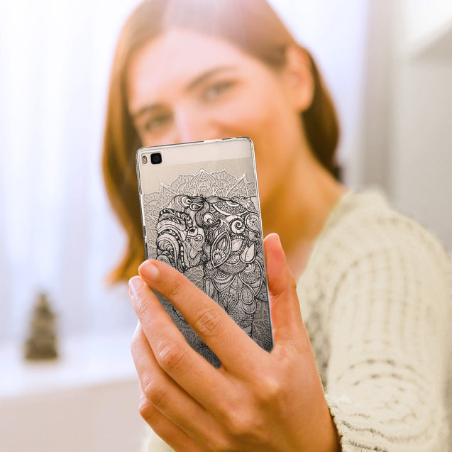 Share - CASEiLIKE Huawei P8 back cover Mandala Art 2300