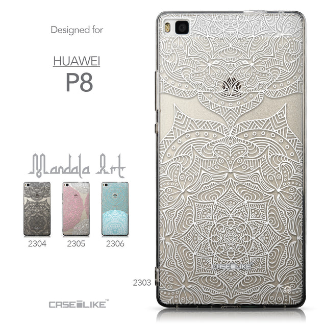 Collection - CASEiLIKE Huawei P8 back cover Mandala Art 2303