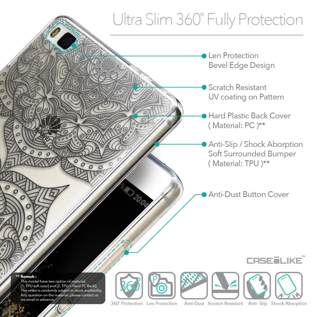 Details in English - CASEiLIKE Huawei P8 back cover Mandala Art 2304