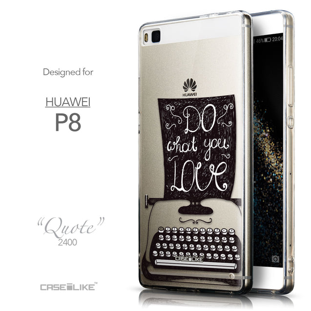 Front & Side View - CASEiLIKE Huawei P8 back cover Quote 2400