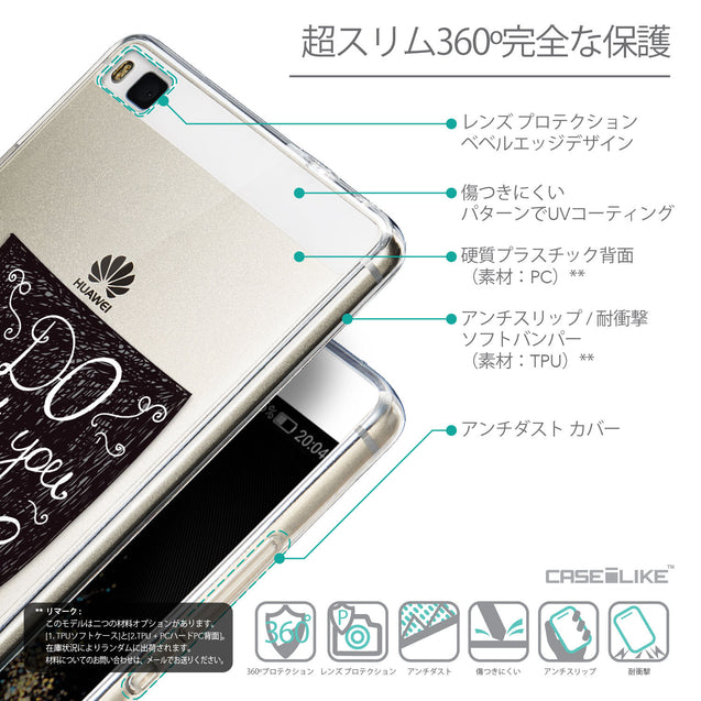 Details in Japanese - CASEiLIKE Huawei P8 back cover Quote 2400