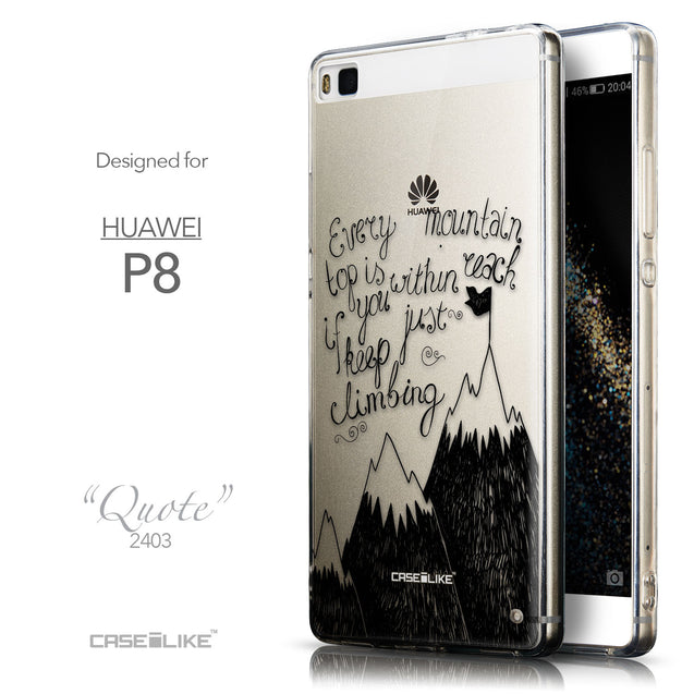 Front & Side View - CASEiLIKE Huawei P8 back cover Indian Tribal Theme Pattern 2053