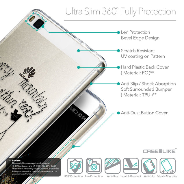 Details in English - CASEiLIKE Huawei P8 back cover Indian Tribal Theme Pattern 2053