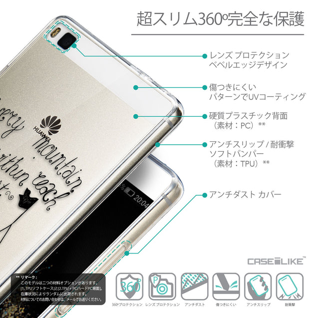Details in Japanese - CASEiLIKE Huawei P8 back cover Indian Tribal Theme Pattern 2053