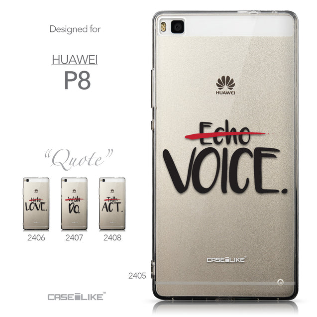 Collection - CASEiLIKE Huawei P8 back cover Quote 2405