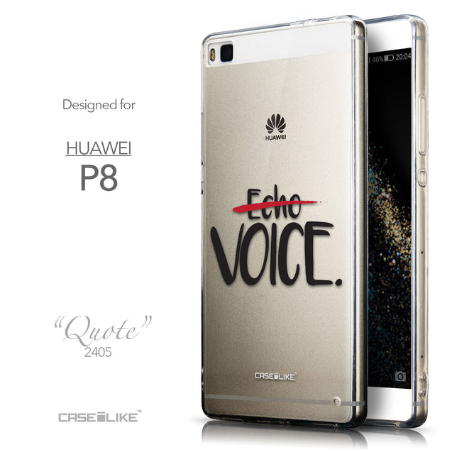Front & Side View - CASEiLIKE Huawei P8 back cover Quote 2405