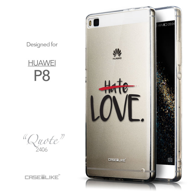 Front & Side View - CASEiLIKE Huawei P8 back cover Quote 2406