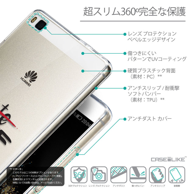 Details in Japanese - CASEiLIKE Huawei P8 back cover Quote 2406