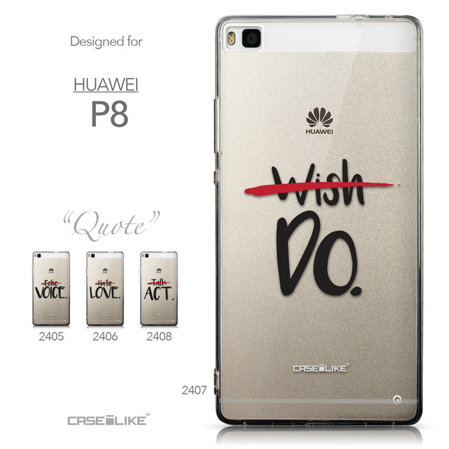 Collection - CASEiLIKE Huawei P8 back cover Quote 2407