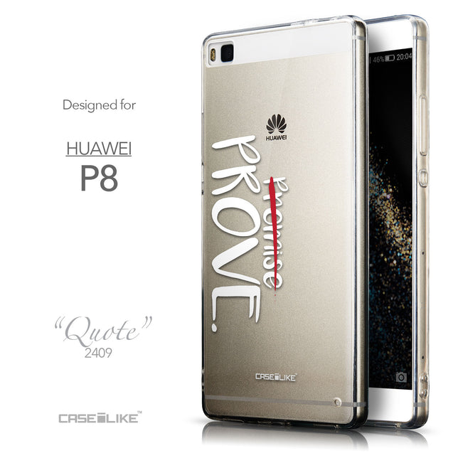 Front & Side View - CASEiLIKE Huawei P8 back cover Quote 2409