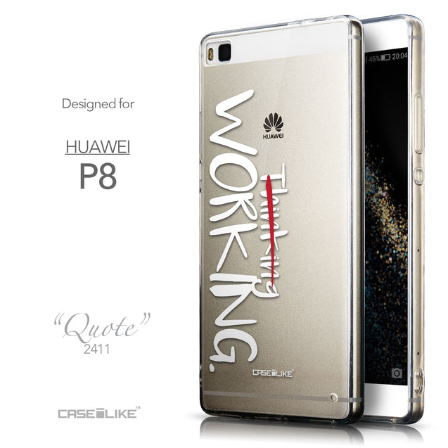 Front & Side View - CASEiLIKE Huawei P8 back cover Quote 2411