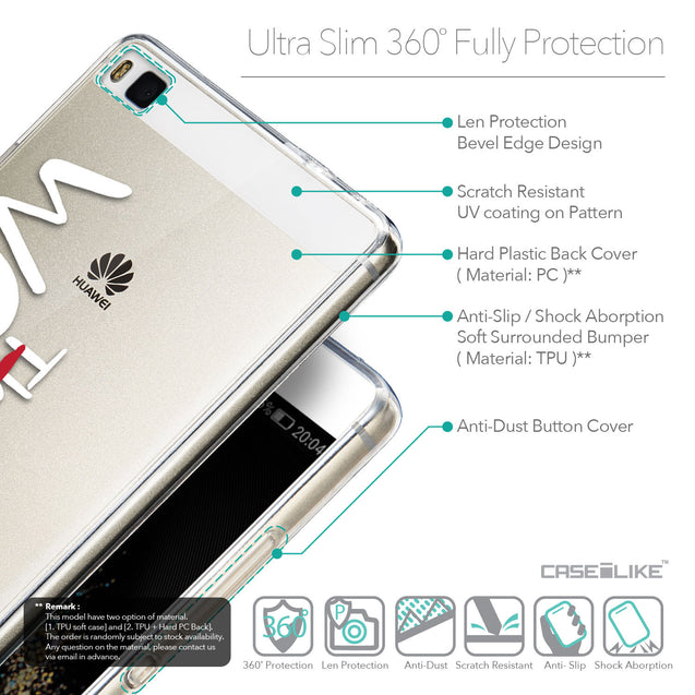 Details in English - CASEiLIKE Huawei P8 back cover Quote 2411