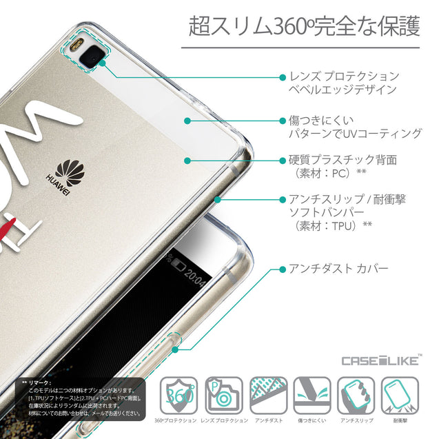 Details in Japanese - CASEiLIKE Huawei P8 back cover Quote 2411