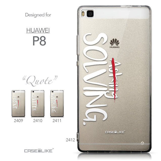 Collection - CASEiLIKE Huawei P8 back cover Quote 2412