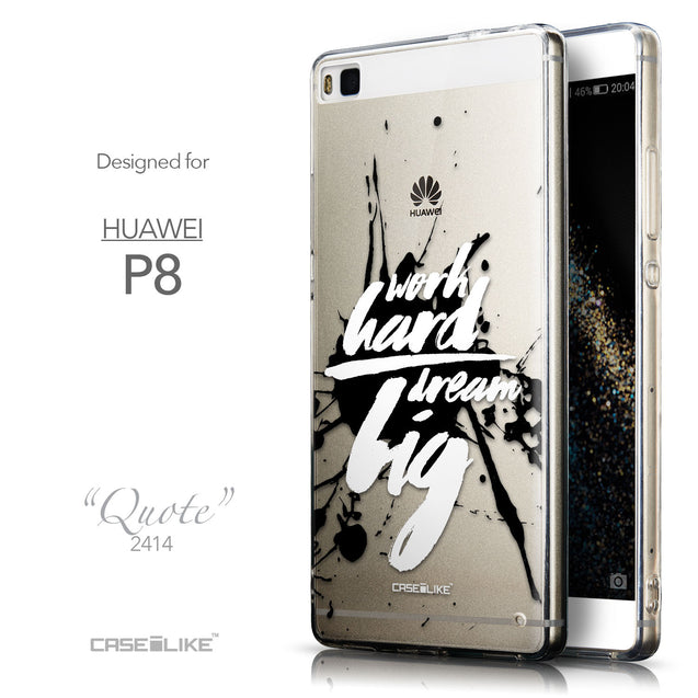 Front & Side View - CASEiLIKE Huawei P8 back cover Quote 2414