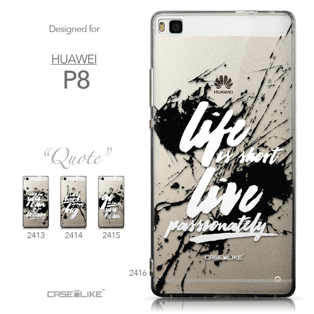 Collection - CASEiLIKE Huawei P8 back cover Quote 2416