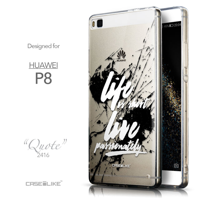 Front & Side View - CASEiLIKE Huawei P8 back cover Quote 2416