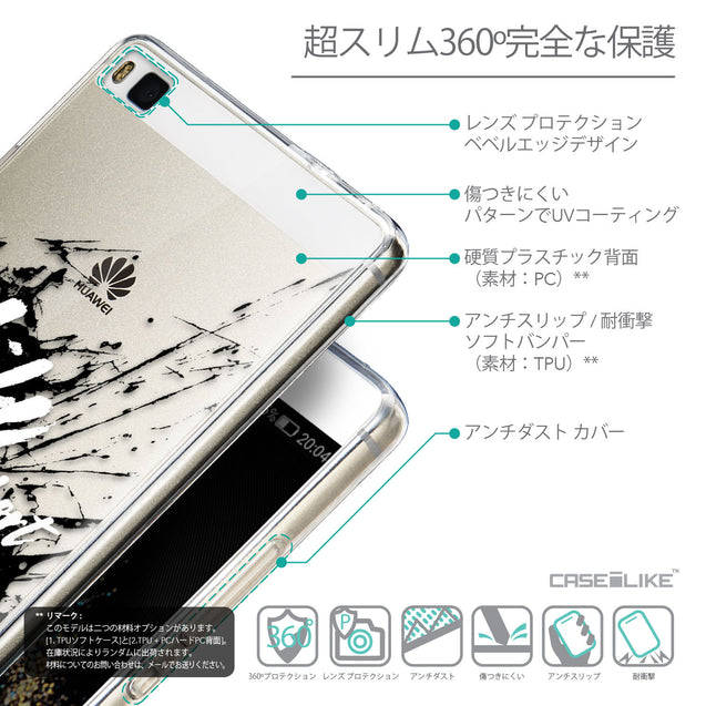 Details in Japanese - CASEiLIKE Huawei P8 back cover Quote 2416