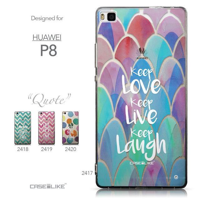 Collection - CASEiLIKE Huawei P8 back cover Quote 2417