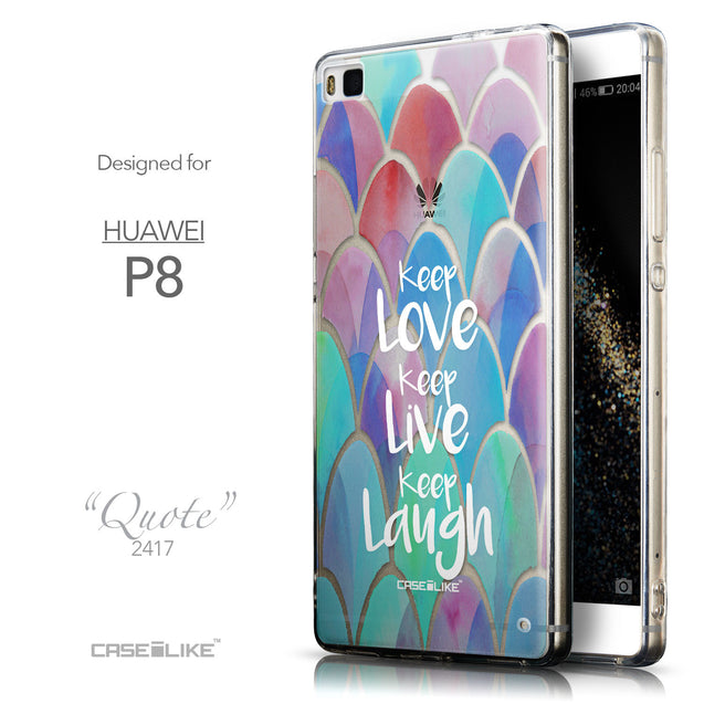 Front & Side View - CASEiLIKE Huawei P8 back cover Quote 2417