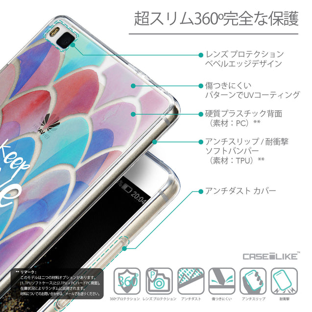 Details in Japanese - CASEiLIKE Huawei P8 back cover Quote 2417