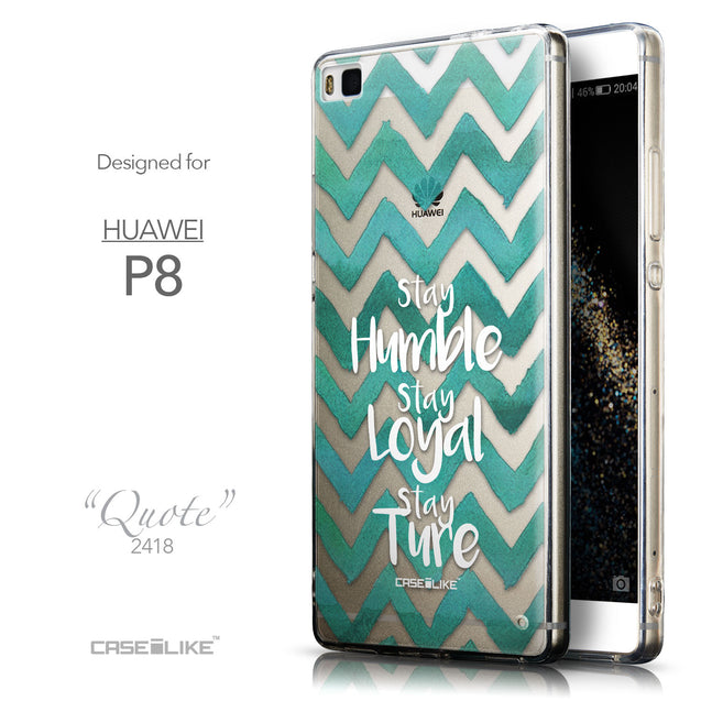 Front & Side View - CASEiLIKE Huawei P8 back cover Quote 2418