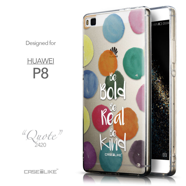 Front & Side View - CASEiLIKE Huawei P8 back cover Quote 2420