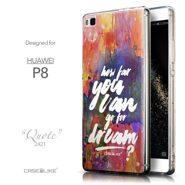 Front & Side View - CASEiLIKE Huawei P8 back cover Quote 2421