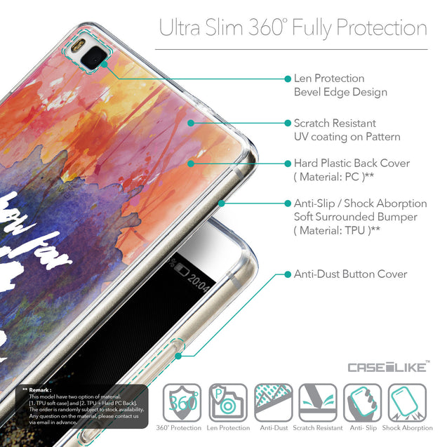 Details in English - CASEiLIKE Huawei P8 back cover Quote 2421