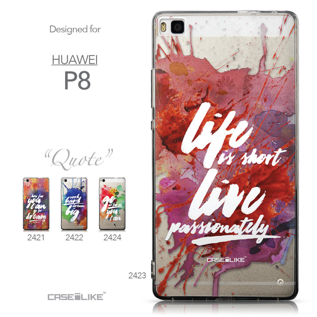 Collection - CASEiLIKE Huawei P8 back cover Quote 2423