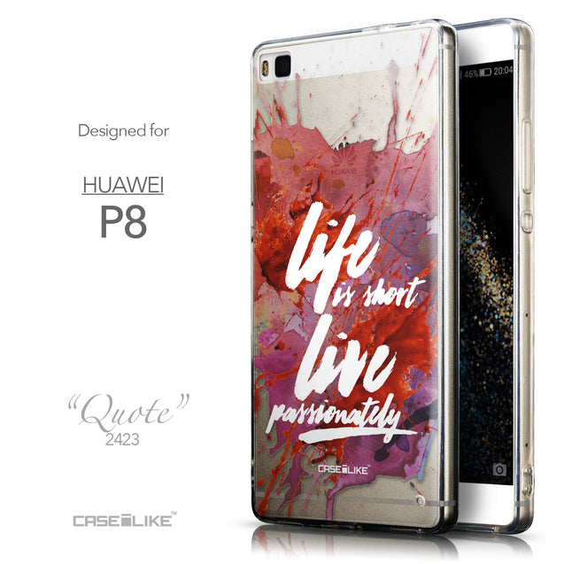 Front & Side View - CASEiLIKE Huawei P8 back cover Quote 2423