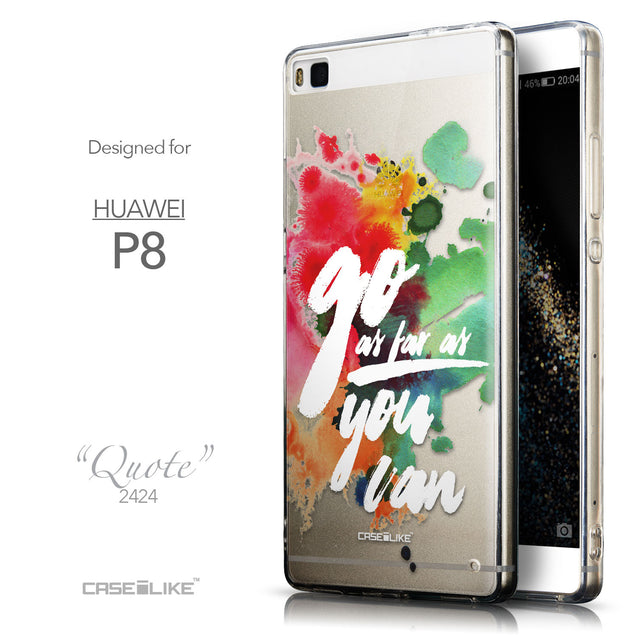 Front & Side View - CASEiLIKE Huawei P8 back cover Quote 2424