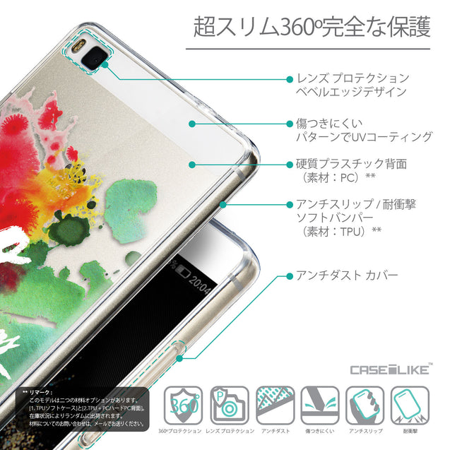 Details in Japanese - CASEiLIKE Huawei P8 back cover Quote 2424