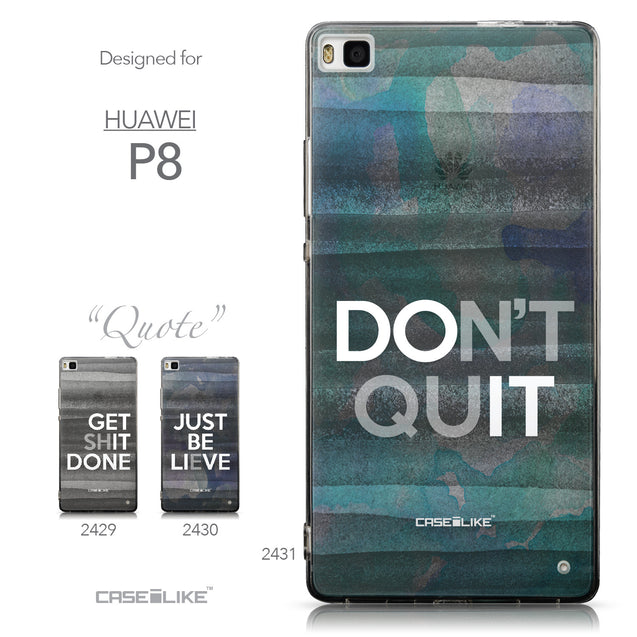 Collection - CASEiLIKE Huawei P8 back cover Quote 2431