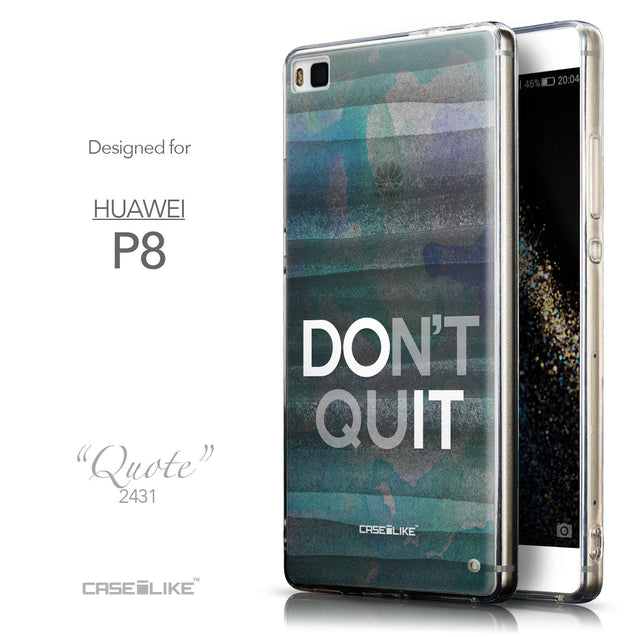 Front & Side View - CASEiLIKE Huawei P8 back cover Quote 2431