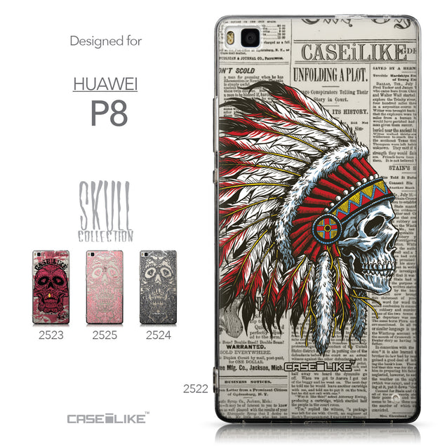 Collection - CASEiLIKE Huawei P8 back cover Art of Skull 2522